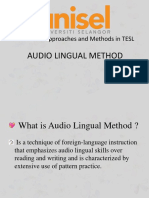 Audio Lingual Methods