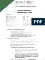EXTRUSORA PolyWeld MINI-Z Manual de Usuario