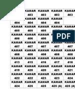 Label Kamar Pasien