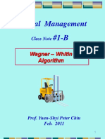 2011 1B Wagner Whitin