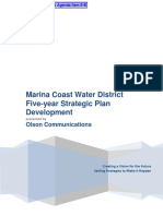 8-B - Olson Communications Proposal for Marina Coast Water District