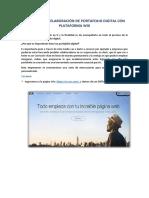 Manual Elaboración de Portafolio Digital Con Página WIX