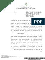Cámara Nacional Electoral confirmó que Picetti no puede asumir su banca
