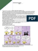 EXAMEN ESCRITO DE PRÁCTICAS DEL LENGUAJE 1°- 5 colegio
