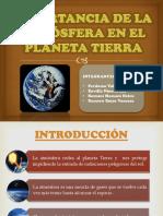 Importancia de La Atmósfera en El Planeta Tierra