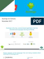Duolingo for Schools Nov2017