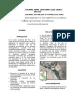 Ocurrencia de Tierras Raras en Pegmátitas de Casma - Ancash