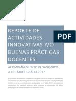 Reporte de Actividades Innovativas y Buenas Practicas