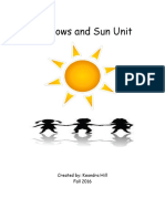 science and literacy unit-sun and shadows