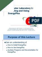 Lecture 01b Installing EnergyPlus
