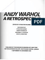 Benjamin Buchloh, Andy Warhols One-Dimensional Art 1956-1966, In Andy Warhol Retrospective