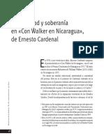 Historicidad y Soberanía en Con Walker en Nicaragua, De Ernesto Cardenal