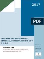 INFORME DEL MUESTREO DE MATERIAL PARTICULADO PM10 Y PM2.6 EN FILTROS LYS-preliminar.docx