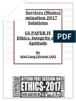 Ethics 2017 Mains Solutions - Orient IAS
