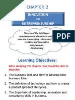 CHAPTER 2 (c) Innovation in Entrepreneur