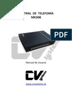 Manual Centralita MK308