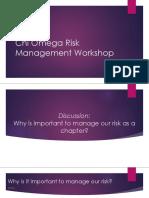 chi o risk management
