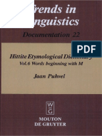 Jaan Puhvel] Hittite Etymological Dictionary Vol 6