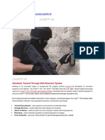 Tactical Through Wall Radar Detection System