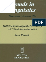 Jaan Puhvel Hittite Etymological Dictionary Vol 7