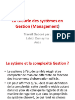 La Théorie Des Systèmes en Gestion (Management)