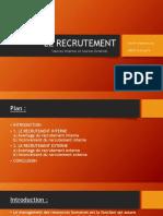 Présentation recrutement interne/externe
