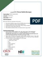 c4c- lesson 3- choose healthy beverages