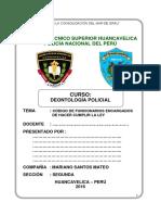 Codigo de Conducta de Funcionarios Encargados de Hacer Cumplir La Ley Monografia Pnp