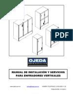 MANUAL DE INSTALACIÓN Y SERVICIO PARA ENFRIADORES VERTICALES OJEDA