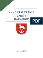 Raport o Stanie Gminy Baranow
