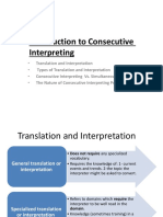 Introduction to Consecutive Interpreting