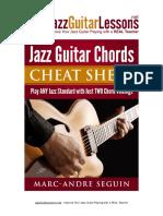 Jazz Guitar Chords Cheat Sheet