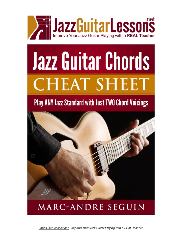 Jazz Guitar Chords Cheat Sheet Guitars String Instruments