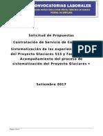TdR sistematizacion PG513 y PG+