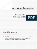Lexi Cology Word Formation
