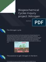 biogeochemical cycles inquiry project  nitrogen asato koerner