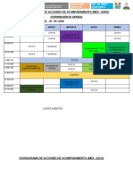 Cronograma de Acciones de Acompañamiento
