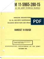 TM 11-5965-280-15 Handset H-189/GR