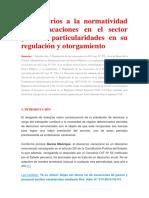 Comentarios a La Normatividad Sobre Vacaciones en El Sector Público