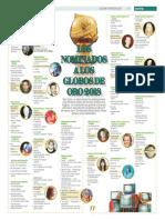 Los nominados a los globos de oro 2018