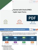 Oracle EPBCS CapEx Input Forms
