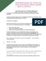 40 IDEAS INSPIRADORAS DE TIPOS DE CONTENIDOS DIGITALES PARA GANAR MÁS CLIENTES.docx