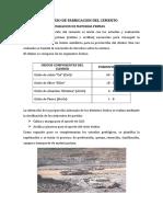 Proceso de Obtencion Del Cemento