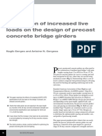 Implication of increased live load on the design of precast concrete bridge girders