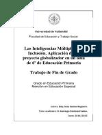 Las Inteligencias Múltiples y la Inclusión. Aplicación de un proyecto globalizador en un aula de 6º de Educación Primaria