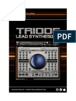 Triode Lead Synthesizer Manual