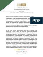 Discurso Efraín Cepeda - Acción de Tutela Circunscripciones de Paz