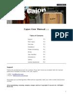 Cajon Manual English