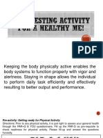Self-testing Activity for a Healthy Me! PE11