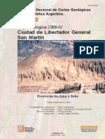 HOJA GEOL_2366-IV Libertador Gral.san Martín